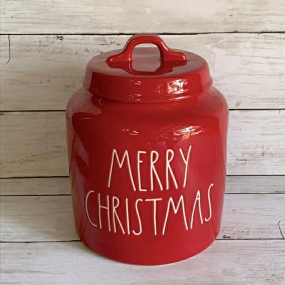 Rae dunn Merry Christmas canister 2019